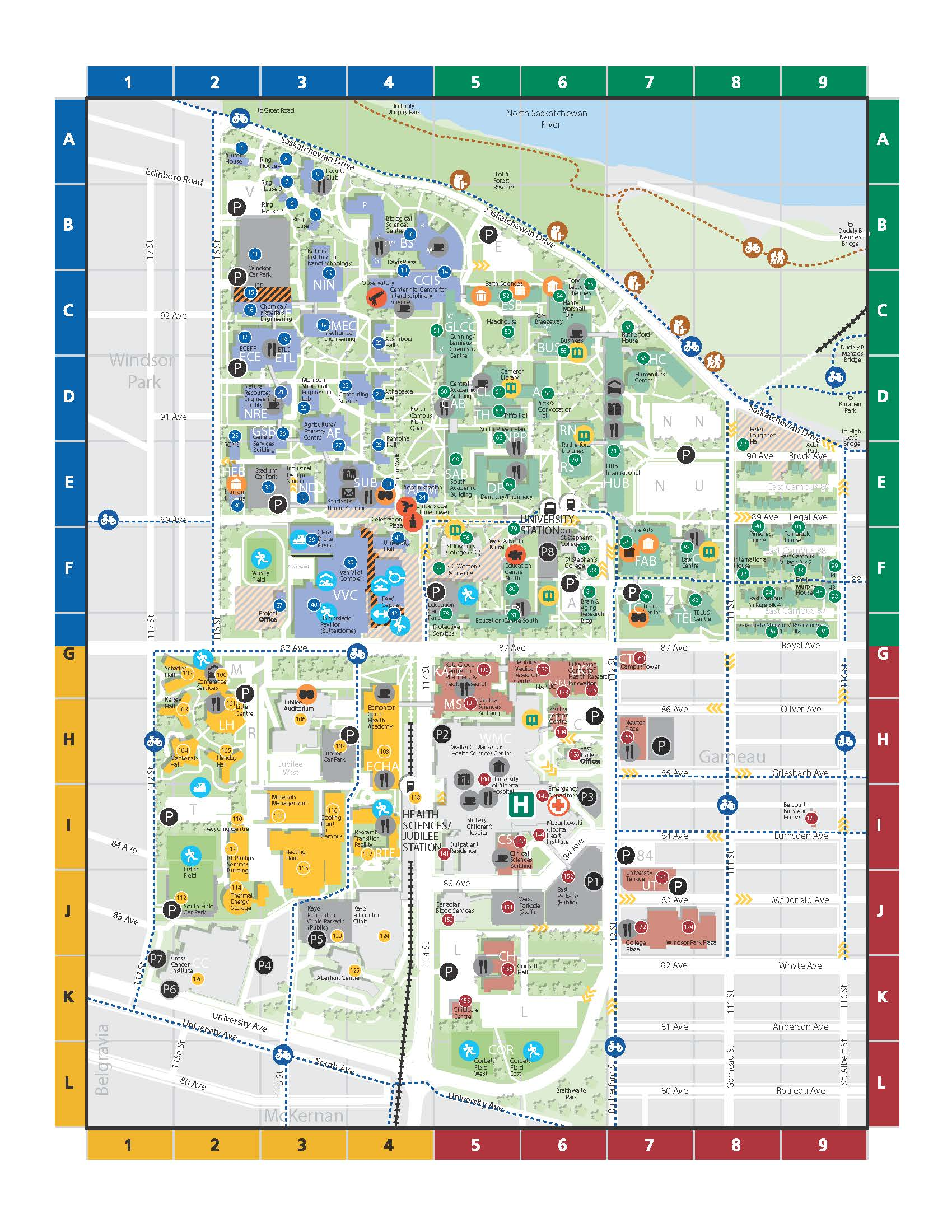 University Of Alberta Campus Map Campus Map – WDCAG 2018 University Of Alberta Campus Map